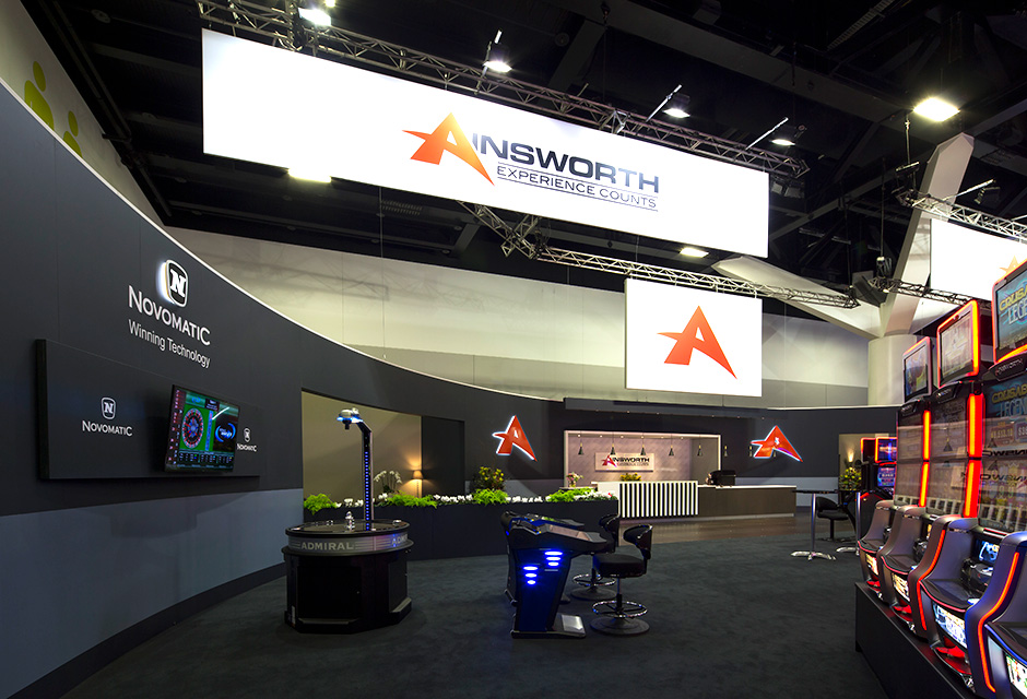 Exhibition Stand Game : Ainsworth exhibition stand at age