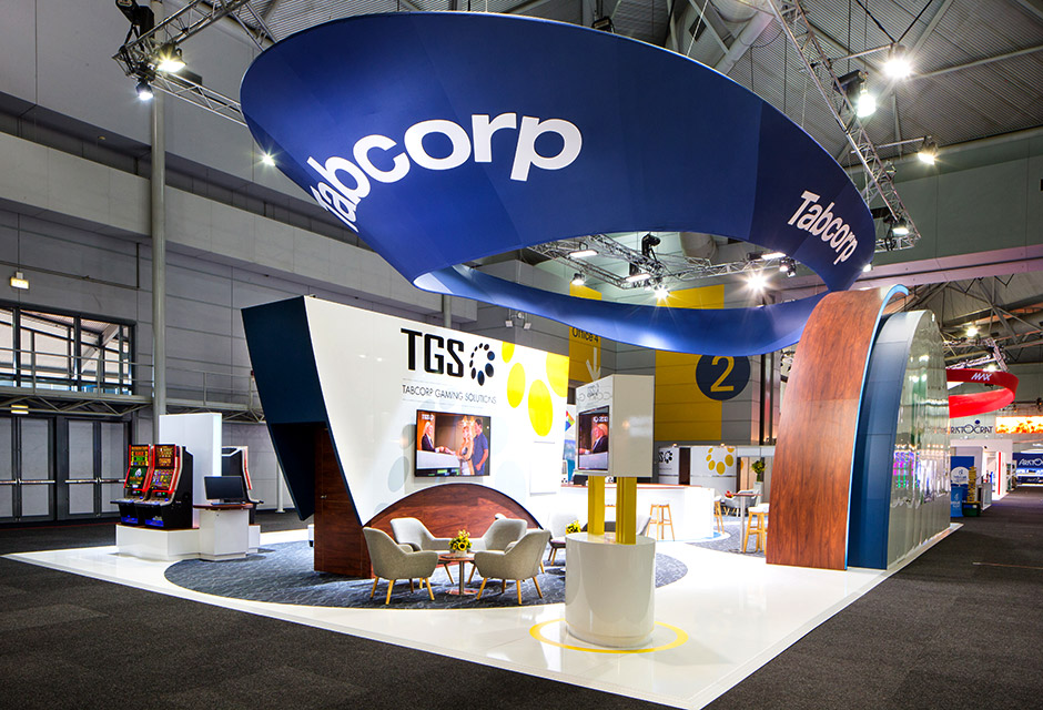Tabcorp Exhibition stand at AHG